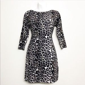 Express || Gray Snow Leopard Cheetah Print Mini XS
